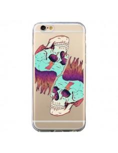 Coque Tête de Mort Crane Punk Double Transparente pour iPhone 6 et 6S - Victor Vercesi