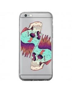 Coque Tête de Mort Crane Punk Double Transparente pour iPhone 6 Plus et 6S Plus - Victor Vercesi