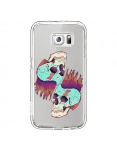 Coque Tête de Mort Crane Punk Double Transparente pour Samsung Galaxy S6 - Victor Vercesi