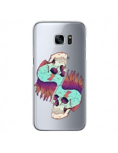 Coque Tête de Mort Crane Punk Double Transparente pour Samsung Galaxy S7 - Victor Vercesi