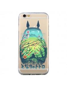 Coque Totoro Manga Flower Transparente pour iPhone 6 et 6S - Victor Vercesi