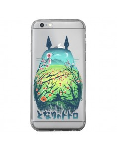 Coque iPhone 6 Plus et 6S Plus Totoro Manga Flower Transparente - Victor Vercesi