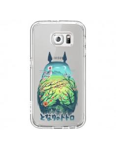 Coque Totoro Manga Flower Transparente pour Samsung Galaxy S6 - Victor Vercesi