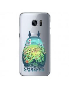 Coque Totoro Manga Flower Transparente pour Samsung Galaxy S7 - Victor Vercesi
