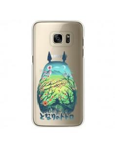 Coque Totoro Manga Flower Transparente pour Samsung Galaxy S7 Edge - Victor Vercesi