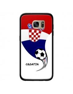 Coque Equipe Croatie Croatia Football pour Samsung Galaxy S7 Edge - Madotta