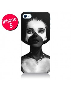 Coque Fille Coeur Hold On pour iPhone 5 - Ruben Ireland