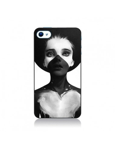 Coque Fille Coeur Hold On pour iPhone 4 et 4S - Ruben Ireland