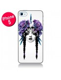 Coque Fille Fleurs Warrior pour iPhone 5 - Ruben Ireland