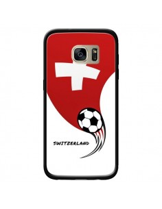 Coque Equipe Suisse Switzerland Football pour Samsung Galaxy S7 Edge - Madotta