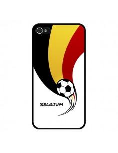 Coque Equipe Belgique Belgium Football pour iPhone 4 et 4S - Madotta