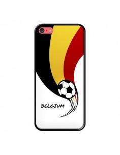 Coque Equipe Belgique Belgium Football pour iPhone 5C - Madotta