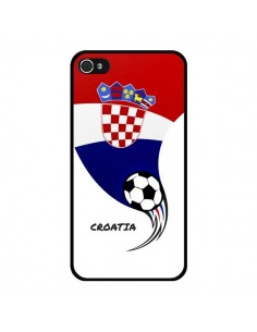 Coque Equipe Croatie Croatia Football pour iPhone 4 et 4S - Madotta