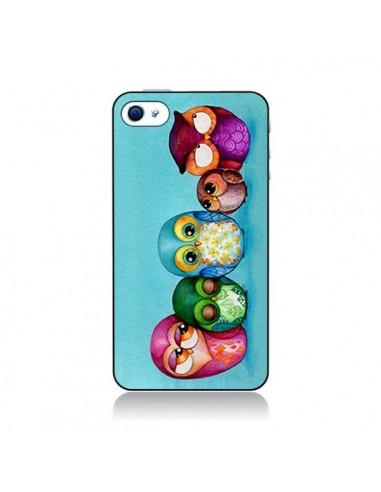 Coque Famille Chouettes pour iPhone 4 et 4S - Annya Kai