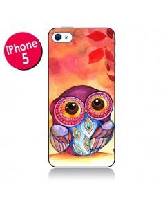Coque Chouette Feuilles Automne pour iPhone 5 - Annya Kai