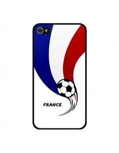 Coque Equipe France Ballon Football pour iPhone 4 et 4S - Madotta