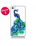 Coque Paon Multicolore pour iPhone 5 - Annya Kai