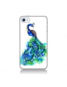 Coque Paon Multicolore pour iPhone 4 et 4S - Annya Kai