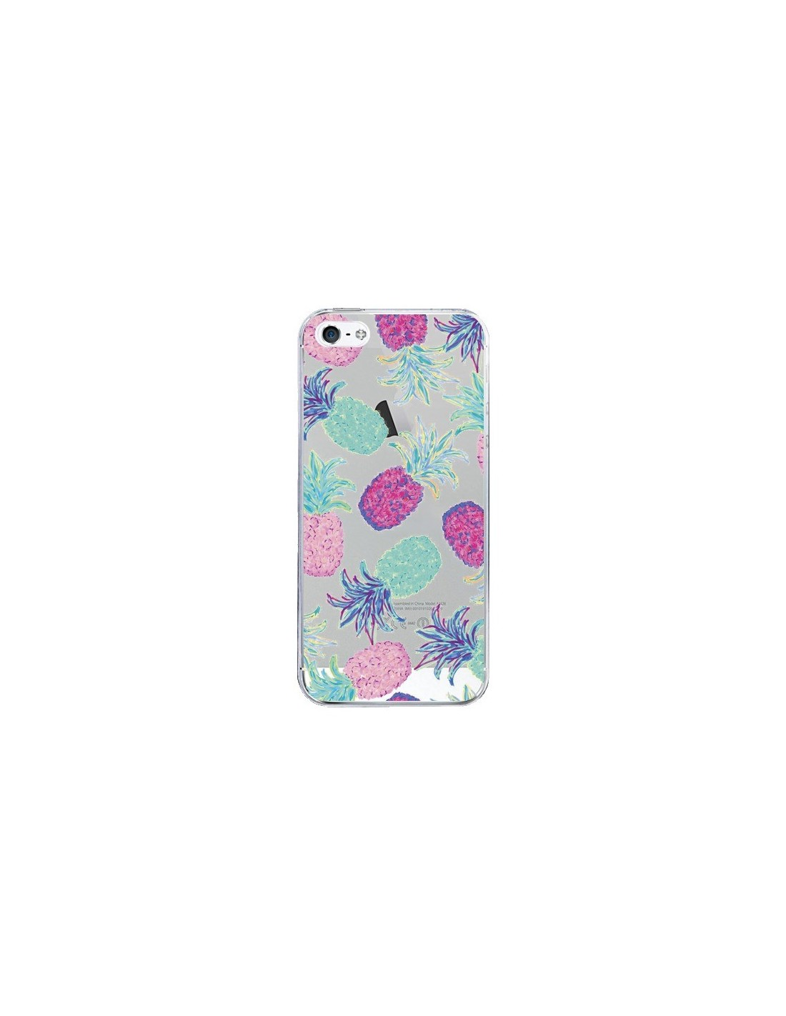 coque iphone 5 5s se ananas pineapple fruit ete summer transparente 5s et se lisa argyropoulos