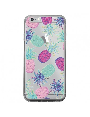 coque iphone 6 plus et 6s plus ananas pineapple fruit ete summer transparente lisa argyropoulos