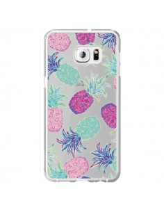 Coque Ananas Pineapple Fruit Ete Summer Transparente pour Samsung Galaxy S6 Edge Plus - Lisa Argyropoulos