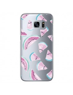 Coque Pasteque Watermelon Fruit Ete Summer Transparente pour Samsung Galaxy S7 - Lisa Argyropoulos