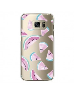 Coque Pasteque Watermelon Fruit Ete Summer Transparente pour Samsung Galaxy S7 Edge - Lisa Argyropoulos