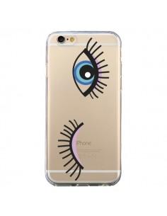 Coque Eyes Oeil Yeux Bleus Transparente pour iPhone 6 et 6S - Elsa Lambinet