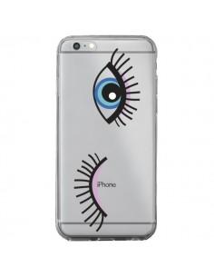 Coque Eyes Oeil Yeux Bleus Transparente pour iPhone 6 Plus et 6S Plus - Elsa Lambinet