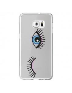 Coque Eyes Oeil Yeux Bleus Transparente pour Samsung Galaxy S6 Edge Plus - Elsa Lambinet