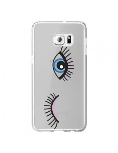 Coque Eyes Oeil Yeux Bleus Transparente pour Samsung Galaxy S6 Edge Plus - Léa Clément