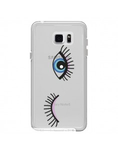 Coque Eyes Oeil Yeux Bleus Transparente pour Samsung Galaxy Note 5 - Elsa Lambinet