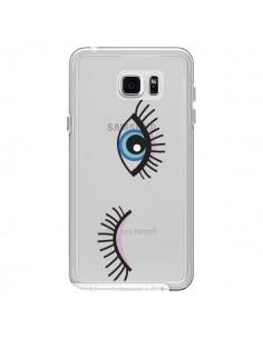 Coque Eyes Oeil Yeux Bleus Transparente pour Samsung Galaxy Note 5 - Léa Clément