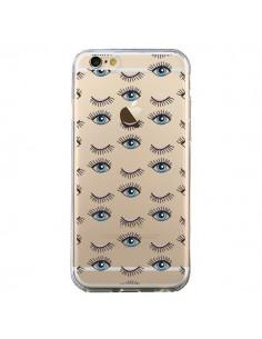 Coque Eyes Oeil Yeux Bleus Mosaïque Transparente pour iPhone 6 et 6S - Elsa Lambinet