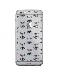 Coque Eyes Oeil Yeux Bleus Mosaïque Transparente pour iPhone 6 Plus et 6S Plus - Elsa Lambinet