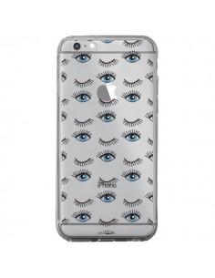 Coque Eyes Oeil Yeux Bleus Mosaïque Transparente pour iPhone 6 Plus et 6S Plus - Léa Clément
