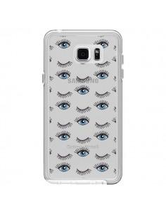 Coque Eyes Oeil Yeux Bleus Mosaïque Transparente pour Samsung Galaxy Note 5 - Elsa Lambinet