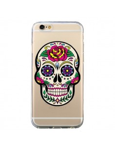 Coque Tête de Mort Mexicaine Fleurs Transparente pour iPhone 6 et 6S - Laetitia