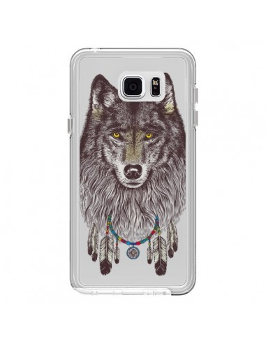 coque loup wolf attrape reves transparente pour samsung galaxy note 5 rachel caldwell. Black Bedroom Furniture Sets. Home Design Ideas