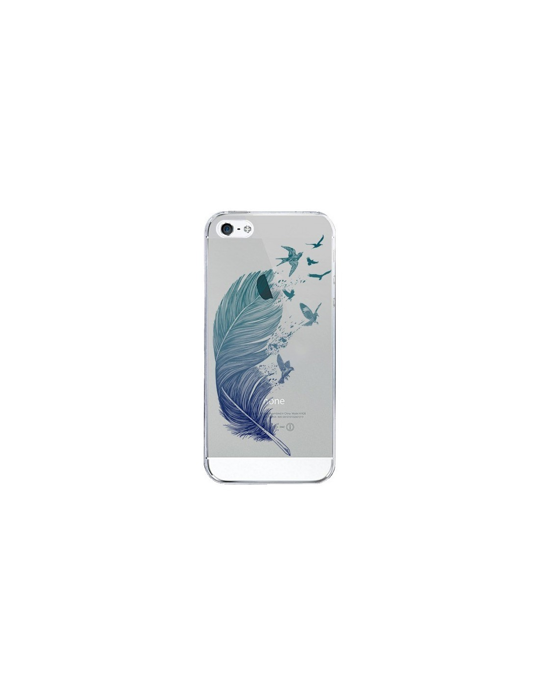 coque plume feather fly away transparente pour iphone 5 5s. Black Bedroom Furniture Sets. Home Design Ideas