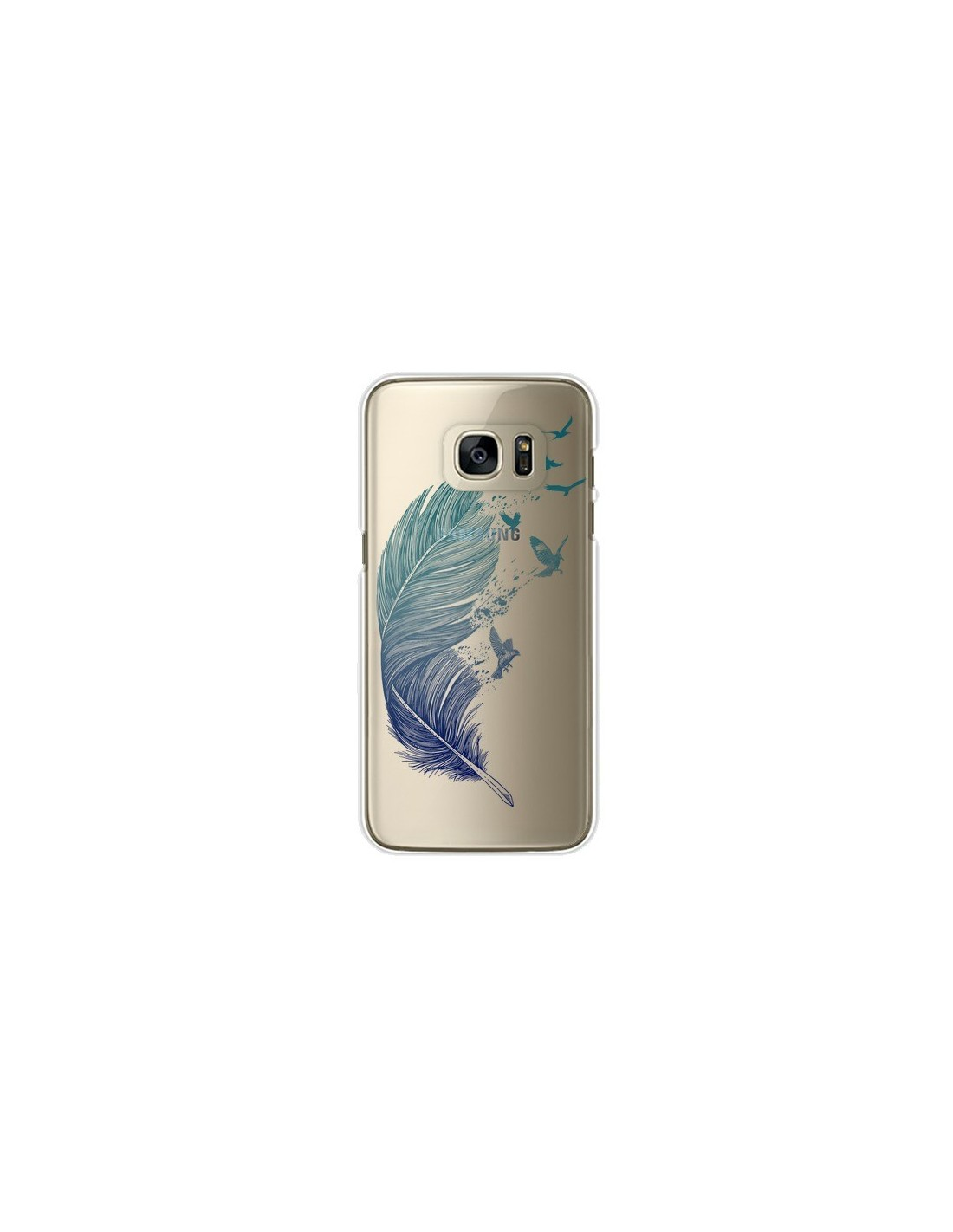 coque plume feather fly away transparente pour samsung galaxy s7 edge rachel caldwell. Black Bedroom Furniture Sets. Home Design Ideas