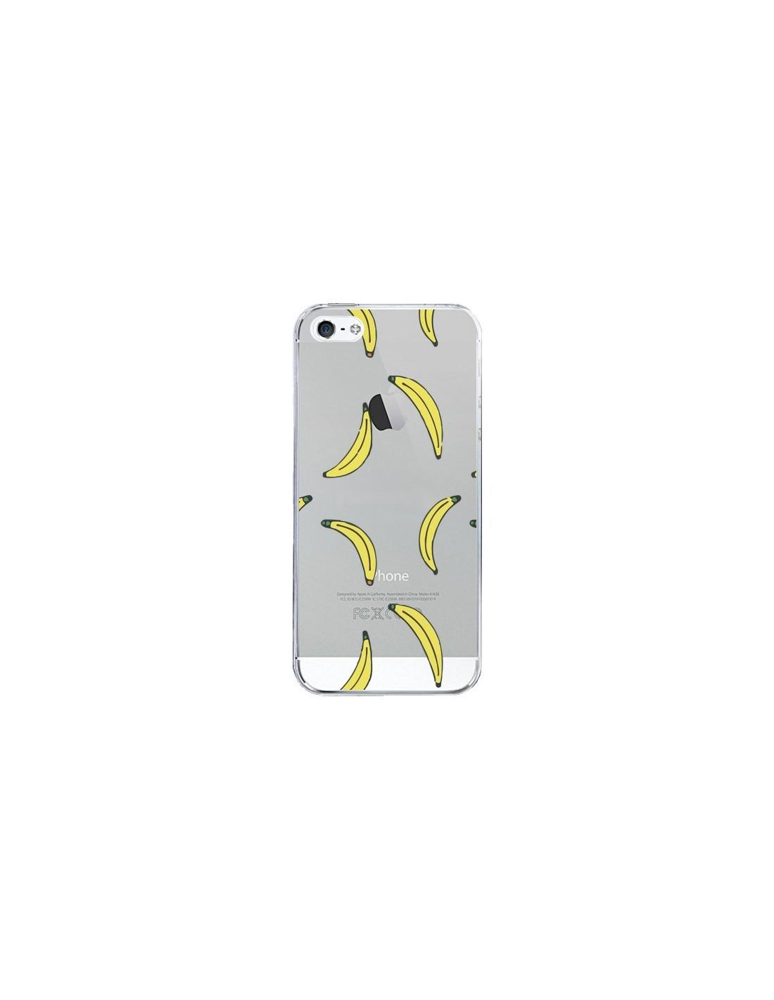 coque bananes bananas fruit transparente pour iphone 5 5s. Black Bedroom Furniture Sets. Home Design Ideas