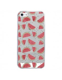 Coque iPhone 5/5S et SE Pasteques Watermelon Fruit Transparente - Dricia Do