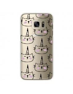 Coque Licorne Unicorn Dessin Transparente pour Samsung Galaxy S7 Edge - Dricia Do