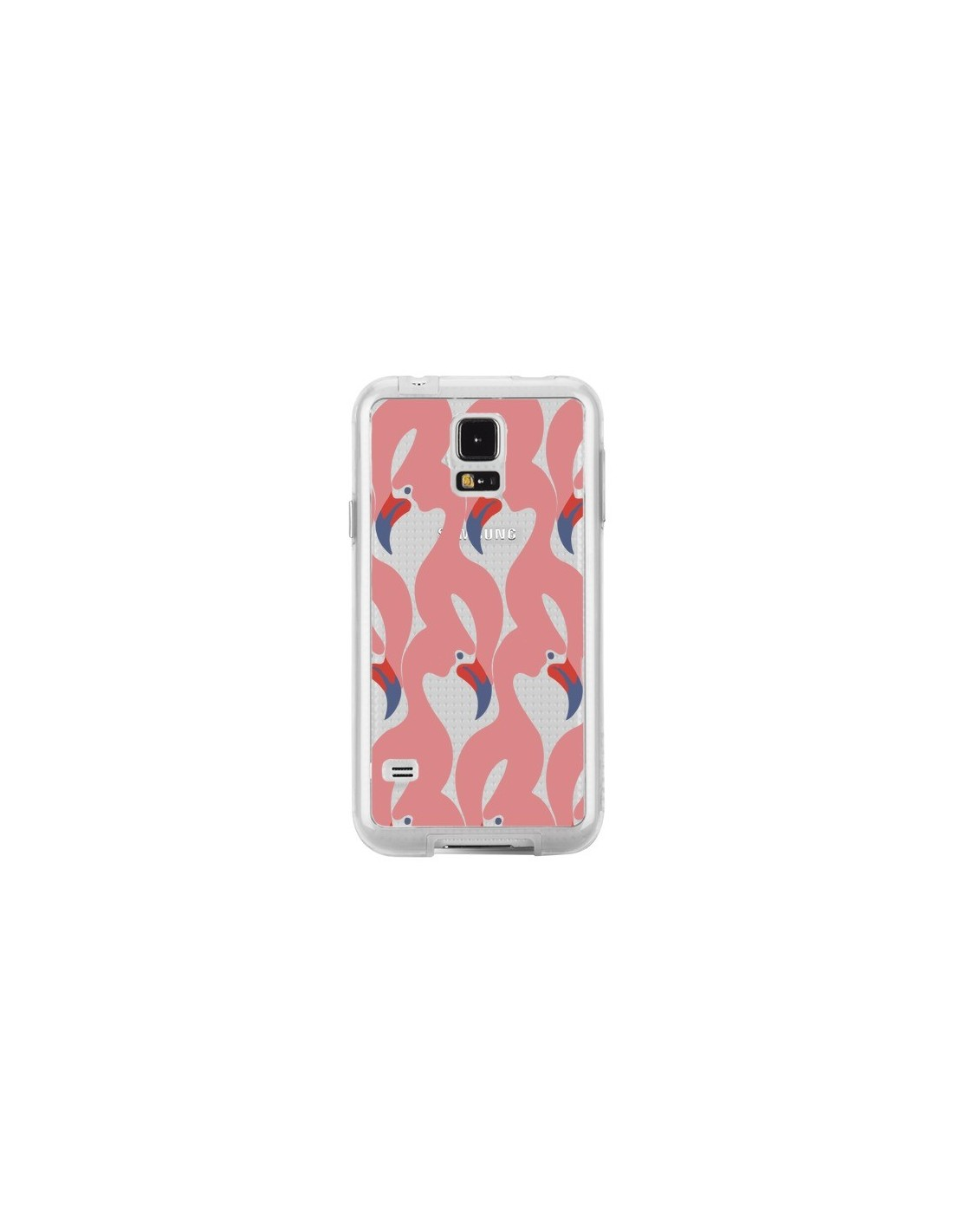 coque samsung galaxy s5 flamman rose