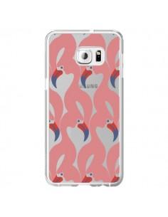 Coque Flamant Rose Flamingo Transparente pour Samsung Galaxy S6 Edge Plus - Dricia Do