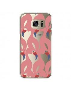 Coque Flamant Rose Flamingo Transparente pour Samsung Galaxy S7 Edge - Dricia Do