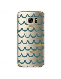 Coque Poisson Fish Water Transparente pour Samsung Galaxy S7 Edge - Dricia Do