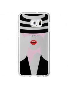 Coque Femme Chapeau Hat Lady Transparente pour Samsung Galaxy S6 Edge Plus - Dricia Do