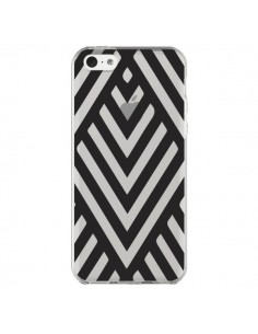 Coque iPhone 5C Geometric Azteque Noir Transparente - Dricia Do